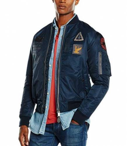 Fliegerjacke mit Patches