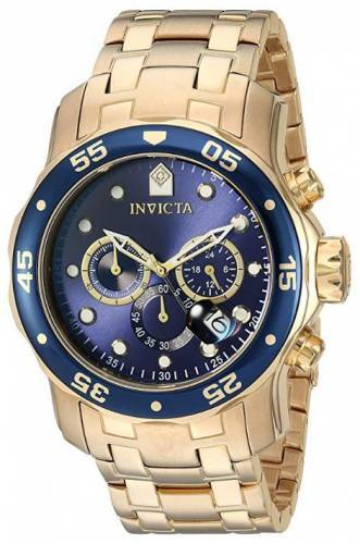 Invicta Uhr blau gold