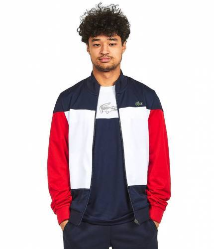 Lacoste Trainingsjacke blau weiß rot Colorblocking