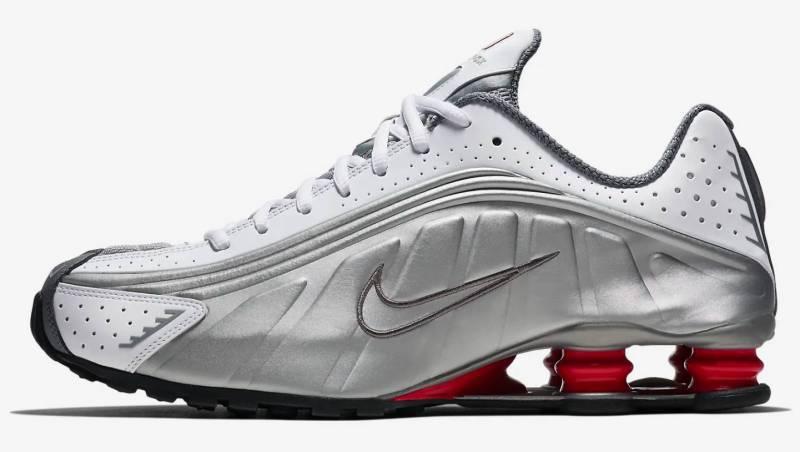 Nike Air Shox silber rot