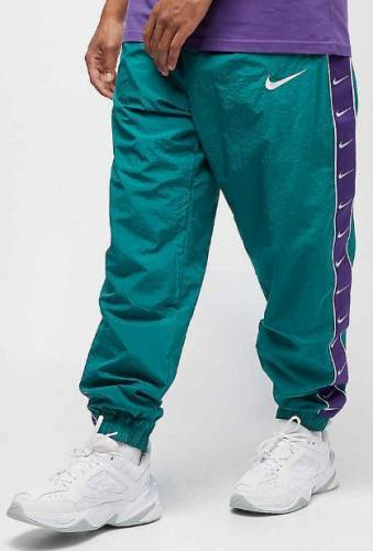 Nike Woven Swoosh pants green purple