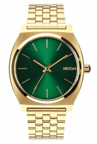 Nixon Time Teller all gold green