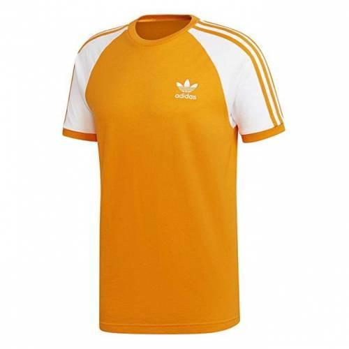Adidas- 3 Sripes T-Shirt Orange
