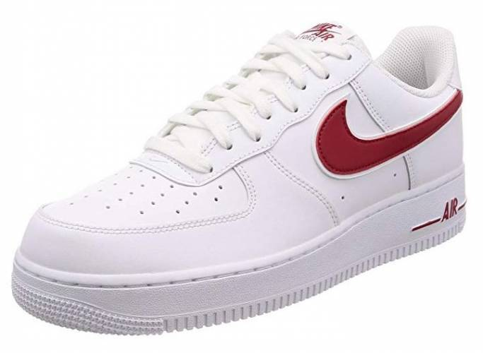Nike Air Force 1 White Red Swoosh