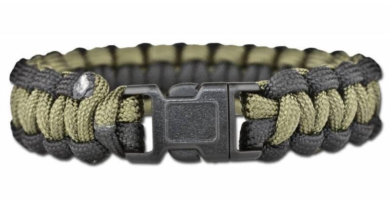 Paracord Armband schwarz olive