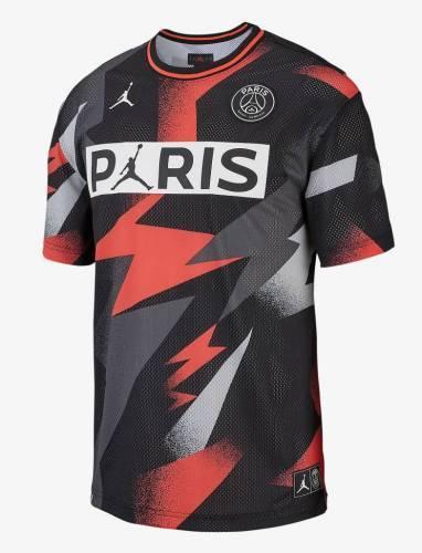 Paris PSG Mesh Trkot rot blitzmuster