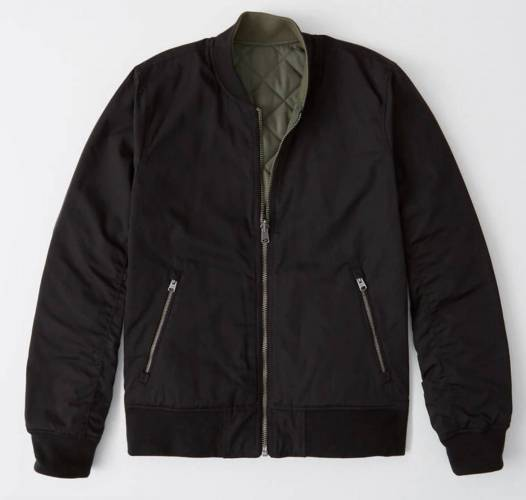 Abercrombie & Fitch Reversible Bomber Jacket