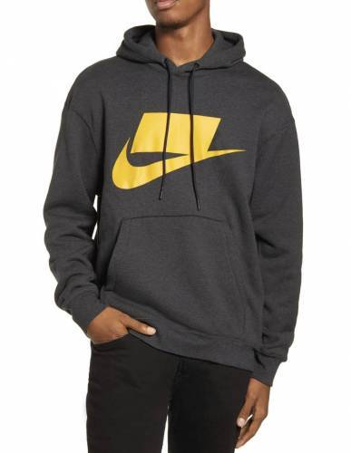 Nike NSW French Terry Hoodie orange logo