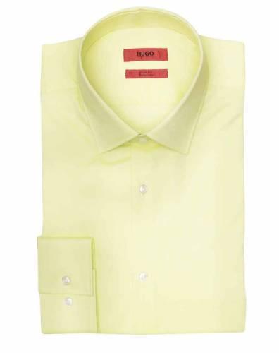 Hugo Hemd blassgelb neon