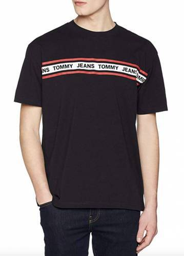 Tommy Jeans Herren Essential Tape Kurzarm T-Shirt