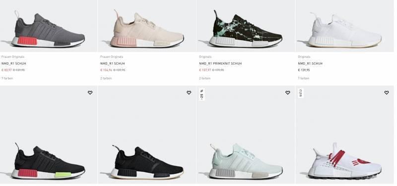 Adidas NMD aktuelle Modelle