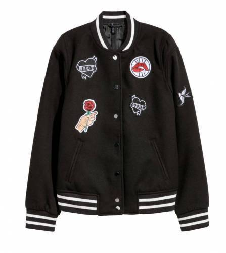 College Jacke Patches H&M