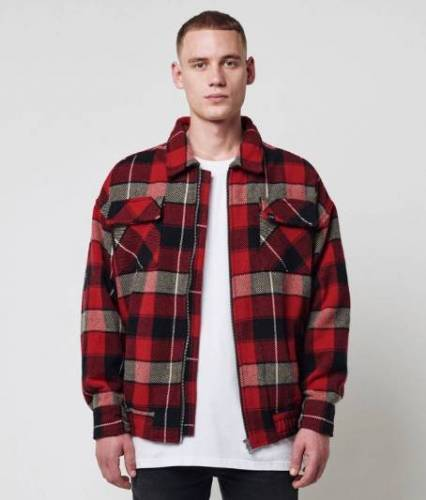 Flanell Jacke rot
