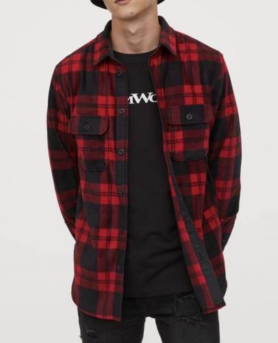 H&M Hemd rot schwarz kariert