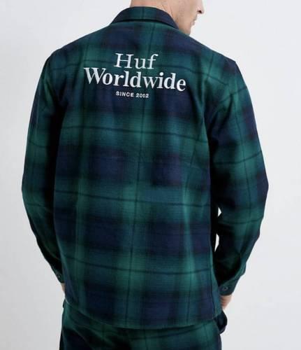 Huf Worldwide Hemd grün kariert