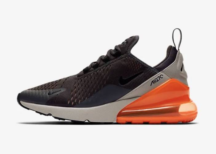 Nike Air Max 270 grey orange