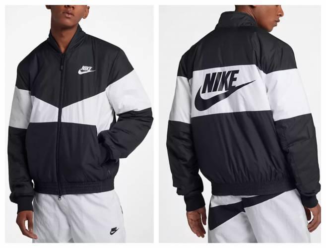 Nike Bomberjacke Print Synthetik