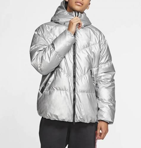 Nike Daunenjacke silber Winter