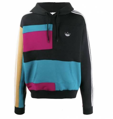 Adidas Colorblocj Hoodie rot blau beige schwarz