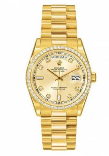 Fero47 Rolex Day Date gold Diamanten