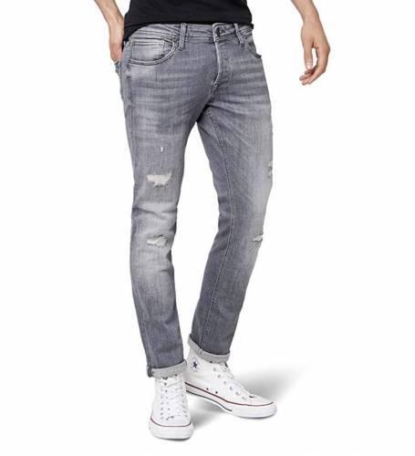 Jack Jones Jeans destroyed grau