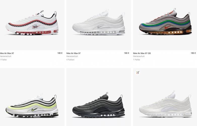 Nike Air Max 97 aktuelle Modelle