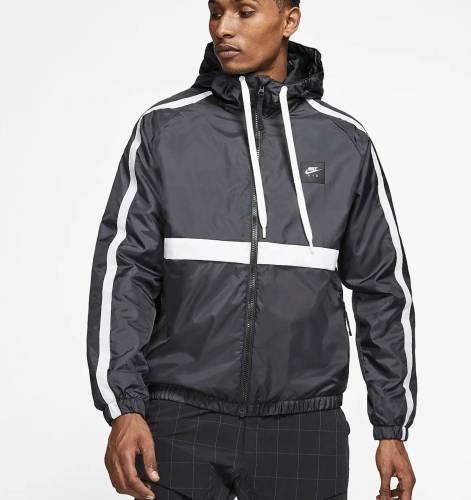 Nike Windbreaker schwarz mit weißem Streifen