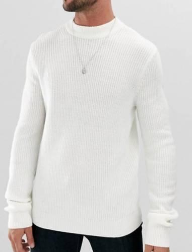 Raf Camora Pullover Weiß Strick