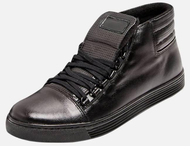 Dreimaster High Top Sneaker Leder Vintage