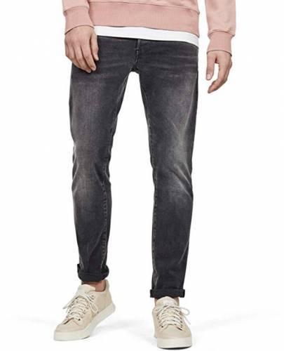 G-STAR RAW Herren 3301 Slim Jeans Antic Charcoal