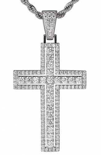 Iced Out Kreuz Halskette Modeschmuck