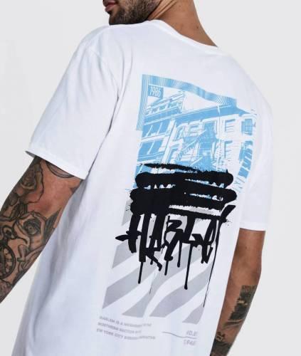 Oversized T-Shirt Backprint boohoo
