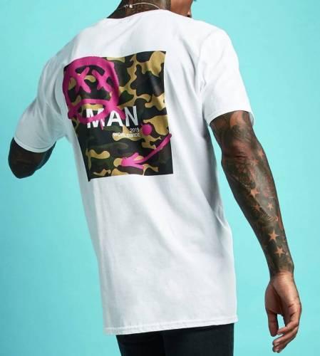 Oversized T-Shirt Backprint Man Camouflage