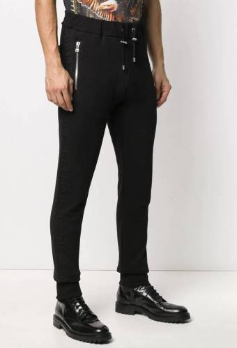 Balmain Sweatpants Black Sidestripe
