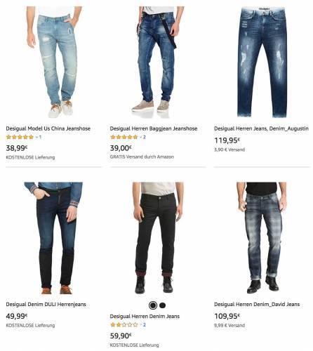 Desigual Herren Jeans Overview