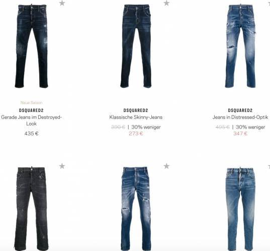 Dsquared Jeans reduziert