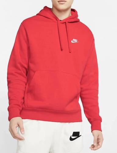 Nike Club Hoodie rot