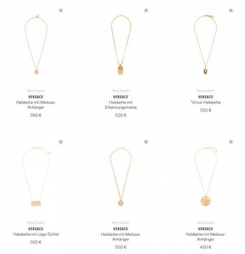 Versace Halskette Overview
