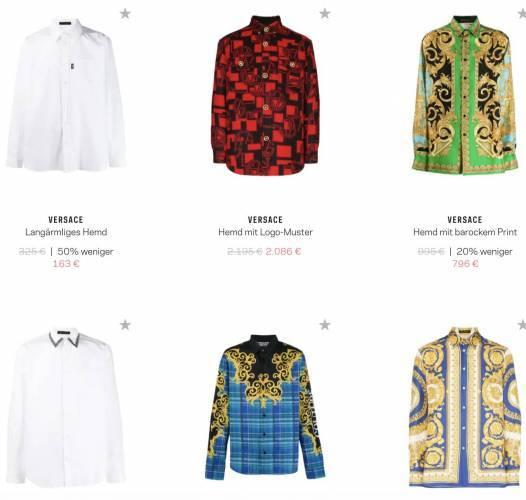 Versace Hemden aktuell