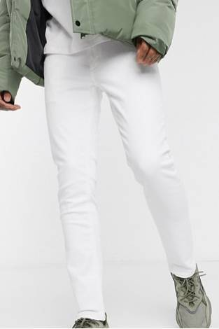 Ali471 Style Jeans weiss