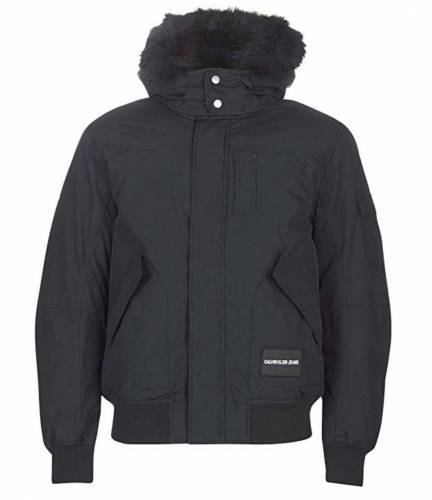 Calvin Klein Jeans Fur Trimmed Hooded Bomber