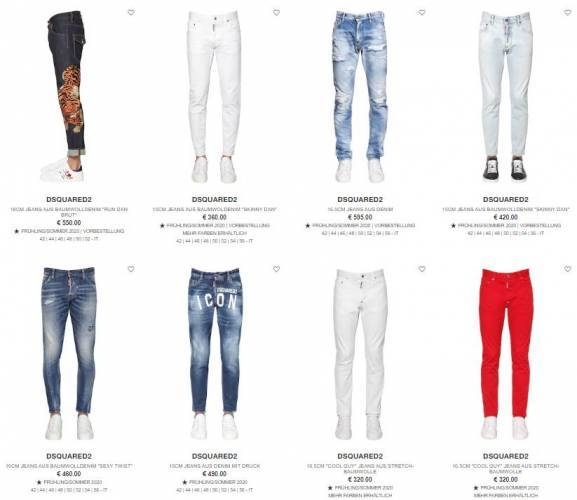 Dsquared Jeanshose Overview