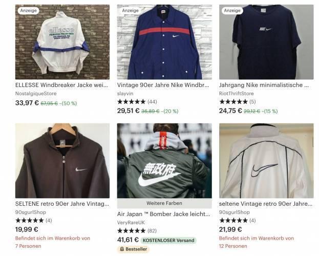 Nike Vintage Jacken