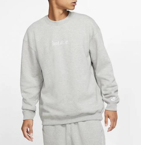 Nike Just Do It Pullover grau