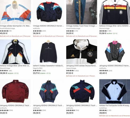 Adidas Deutschland Vintage Jacken