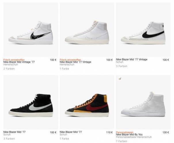 Alle Nike blazer Schuhe