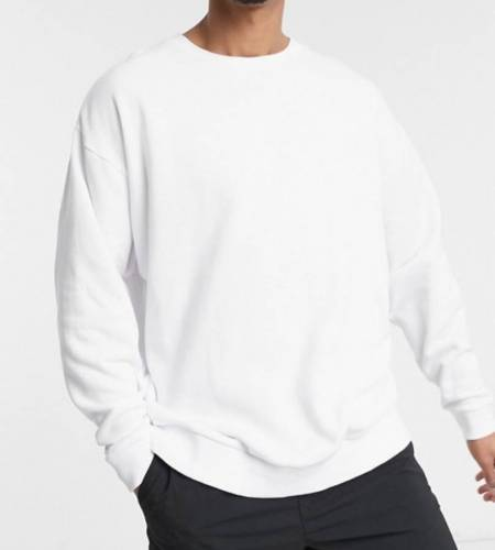 Luciano Sweater weiß oversized basic Alternative