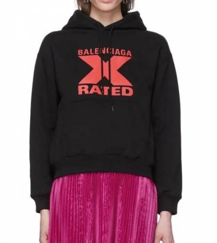Balenciaga X Rated Hoodie schwarz