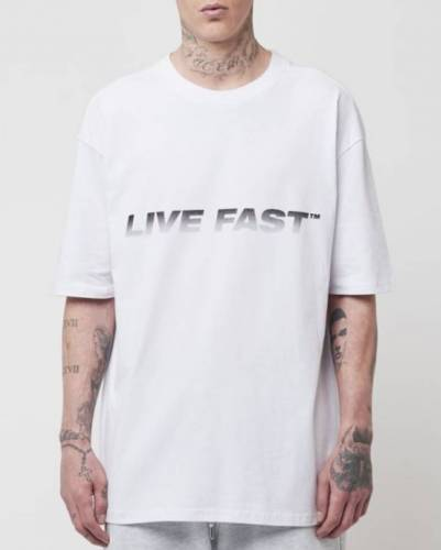Live Fast T-Shirt weiß oversized