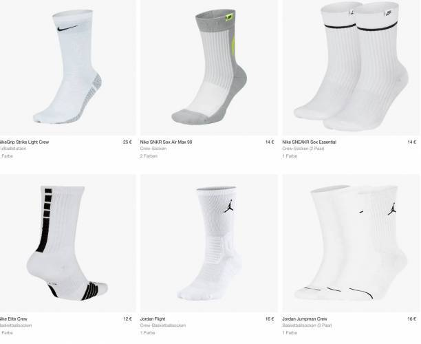 Nike Crew Socken weiß